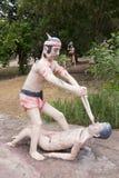 Thai buddism hell Stock Photo