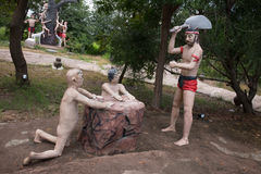 Thai buddism hell Royalty Free Stock Photo