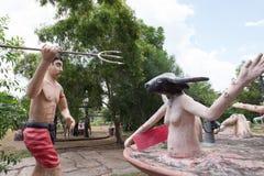 Thai buddism hell Royalty Free Stock Image