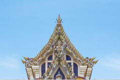 Thai Buddist Temple Gable Roof Style Royalty Free Stock Image