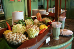 Thai buffet. Buffet in a thai restaurant Royalty Free Stock Photos