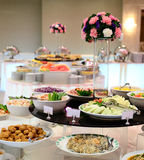Thai buffet table in restaurant Royalty Free Stock Images