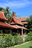 Thai building. Exterior of traditional Thai buildings - travel and tourism Stock Photos