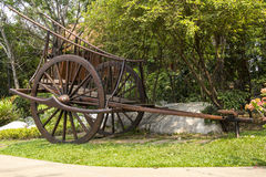 Bullock car in garden Royalty Free Stock Photography