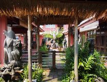 thai bungalow Royaltyfri Foto