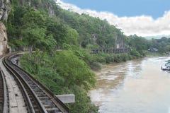 Thai Burma Railway. The Thai Burma Railway and River Kwai stock photo