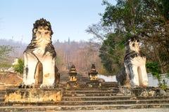 Thai-Burmese fusion art of Maehongson temple Stock Photography
