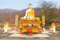 Thai-Burmese fusion art of Maehongson temple Royalty Free Stock Photos