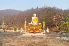 Thai-Burmese fusion art of Maehongson temple Stock Images