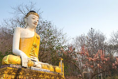 Thai-Burmese fusion art of Maehongson temple Royalty Free Stock Photography