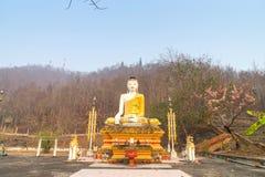 Thai-Burmese fusion art of Maehongson temple Royalty Free Stock Image