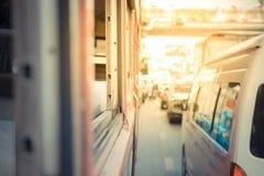 Thai bus in Bangkok Stock Images