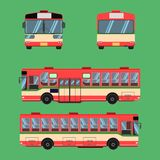Thai bus red green white transport car vehicle driver fare passenger autobus omnibus coach rail bench chair stool armchair seat ma. Ttress bolster hassock pad royalty free illustration
