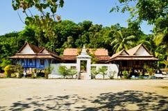 thai byggande tempel för gammal stil Arkivbilder
