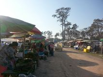 Thai-Cambodian border market Royalty Free Stock Image