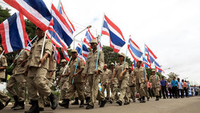 Thai campaign parade Royalty Free Stock Photo