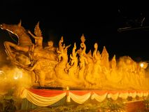 Thai candle art Royalty Free Stock Photos