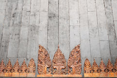 Thai carving. Background of Thailand Carving Style Stock Images