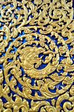 Thai Carving gold naka art Stock Images