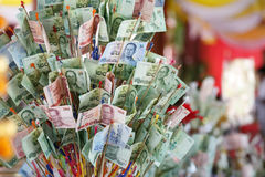 Thai cash on philanthropy Festival Royalty Free Stock Photography