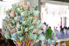 Thai cash on philanthropy Festival Stock Photography