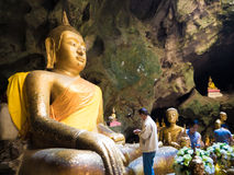 Thai cave temple Royalty Free Stock Photos