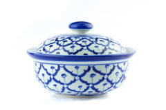 Thai ceramic bowl. royalty free stock image