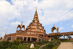 Thai ceramic Buddhist temple Stock Image