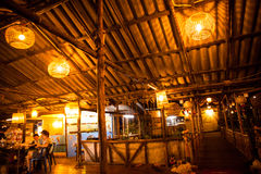 Thai Chalet Restaurant Night Royalty Free Stock Images