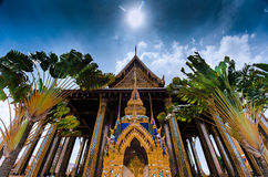 Thai chapel in Grand palace, Thailand Stock Images