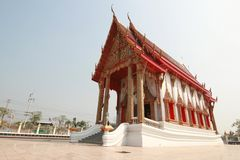 Thai chapel. Chapel in thai temple, thai style, samutsakhon, thailand Royalty Free Stock Image