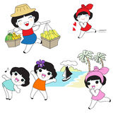 Thai Character Expressions illustration Stock Photography