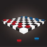 Thai checkers board Royalty Free Stock Photography