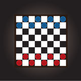 Thai checkers board Royalty Free Stock Photos