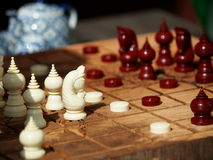 Thai chess figures Stock Images