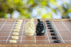 The thai chess vintage style on background Stock Images