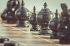 The thai chess vintage style on background Royalty Free Stock Photo