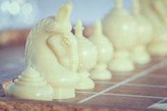 The thai chess vintage style on background Stock Photography
