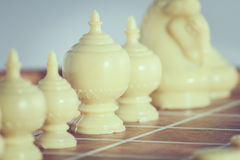 The thai chess vintage style on background Royalty Free Stock Images