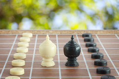 The thai chess vintage style on background Stock Image