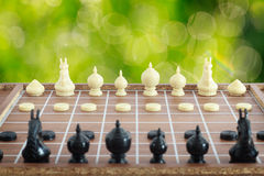 The thai chess vintage style on background Royalty Free Stock Photography
