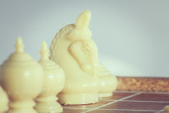 The thai chess vintage style on background Stock Photos