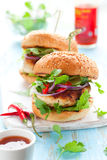 Thai chicken burger Stock Photography