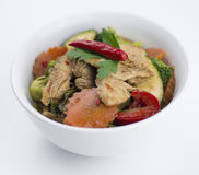 Thai chicken chili basil with mixed vegetables Royalty Free Stock Photos