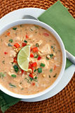 Thai Chicken Curry Soup Stock Photo