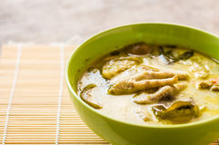 Thai chicken green curry Royalty Free Stock Photo