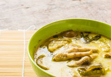 Thai chicken green curry in bowl Royalty Free Stock Photography