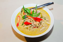 Thai chicken green curry, creamy soup Stock Image
