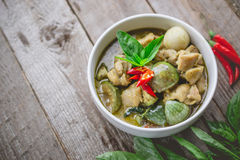 Thai Chicken Green Curry. Famous Thai Tradition Food. Image for Royalty Free Stock Photos