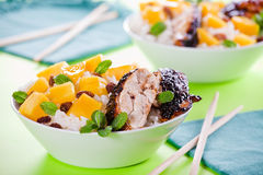 Thai Chicken With Mango Royalty Free Stock Photos